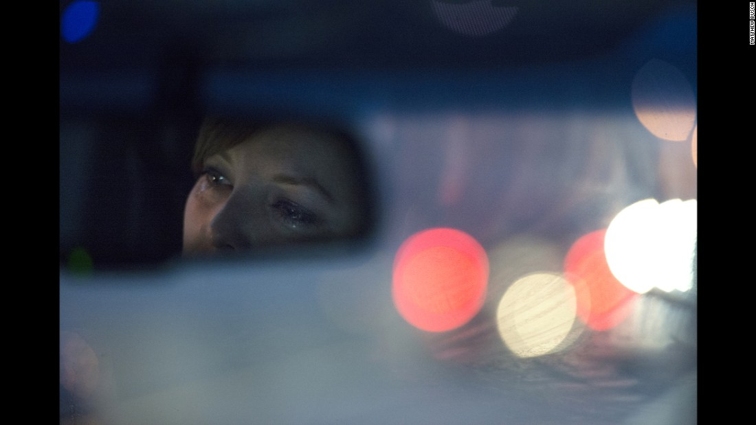 "Klein tears up in the car as she hears a story on the radio about the plight of sex workers overseas. ""Angela doesn't let go of her empathy when she hears about the struggles of others; she connects to it and to them,"" Busch said. ""Her emotional range can go from self-destructive to engaging and compassionate."""