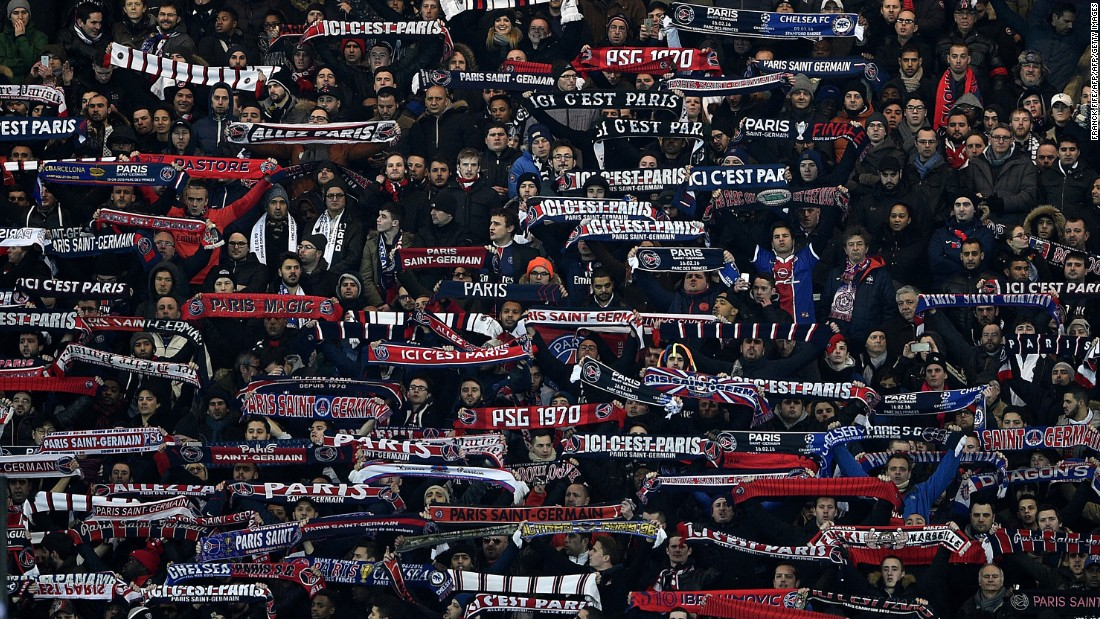 The PSG fans were in full voice with their team having lost just one of its past 37 European home games.