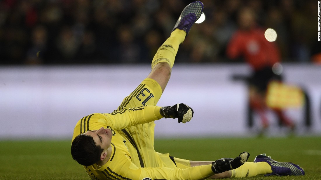 Courtois was the busier goalkeeper in the second half with the home side piling on the pressure.