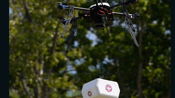 In Virginia, 2015, an Australian-made Flirtey drone was approved to supplying a rural pop-up clinic with medication. Read more.