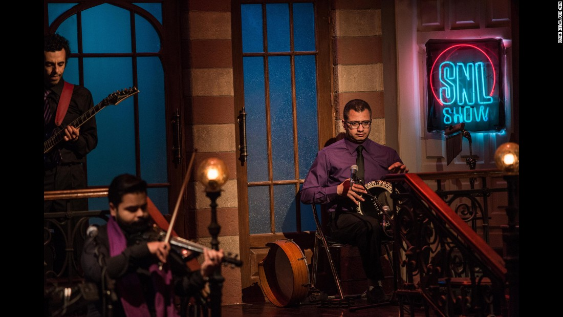 """SNL in Arabic"" has a house band, which, unlike the New York show, features a violinist."
