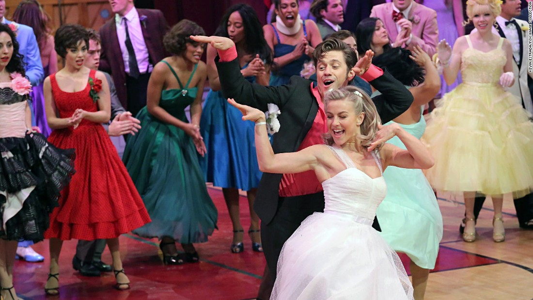 "Hough most recently starred as Sandy in the TV production of ""Grease: Live."""