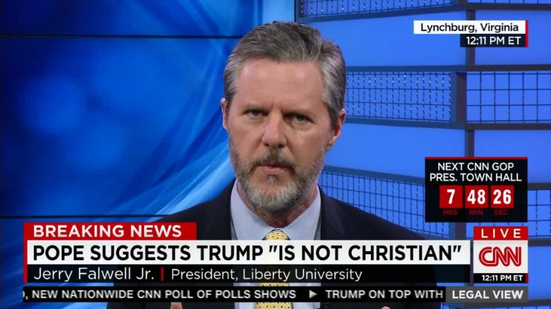 Falwell Jr.: Pope using Christianity as criteria for President _00020427