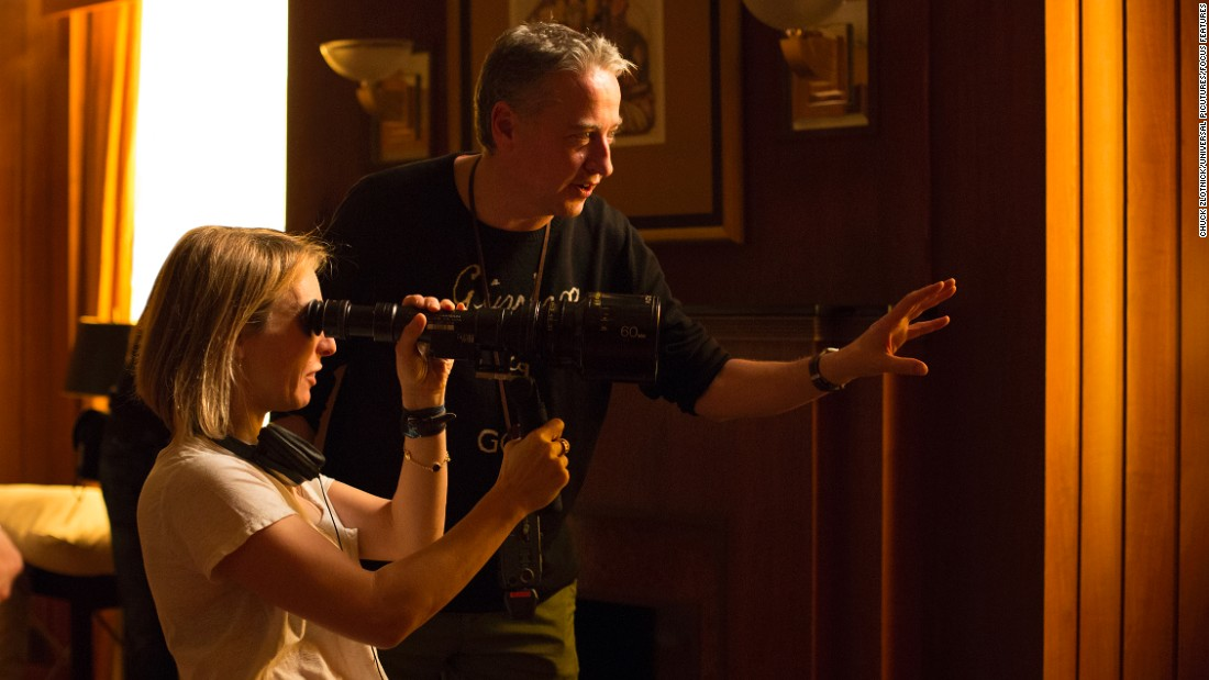 """Fifty Shades of Grey"" was a huge milestone for English filmmaker and actress Sam Taylor-Johnson, left (with cinematographer Seamus McGarvey). The film version of E.L. James' book grossed $166 million in 2015. Taylor-Johnson called the experience ""intense and incredible."""
