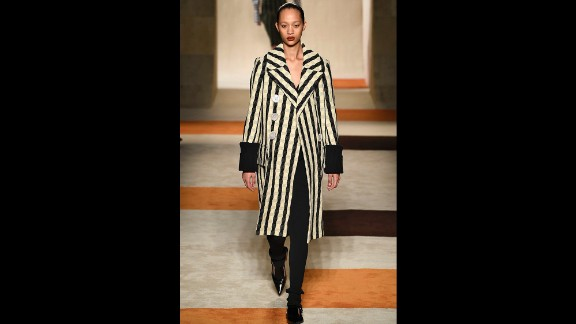 A model walks the runway at the Victoria Beckham fall/winter 2016 fashion show. The former Spice Girl launched her womenswear label in 2008 and has grown it into a thriving empire.