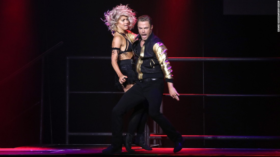 "Hough and her brother, Derek Hough, performed during their<a href=""http://www.moveliveontour.com/"" target=""_blank""> ""Move"" Live On Tour</a> at Radio City Music Hall. Derek has won six ""Dancing With the Stars"" championships with celebrity partners."