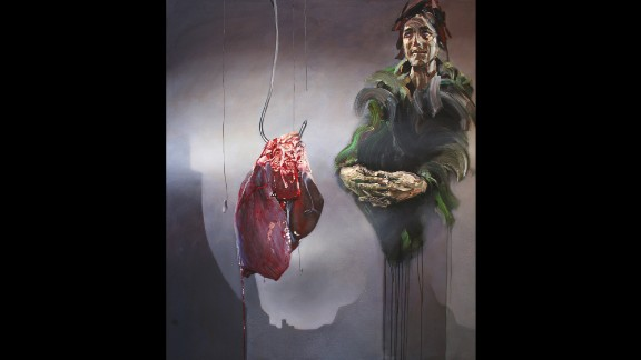 The suffering of Syrians is depicted in artist Sara Shamma