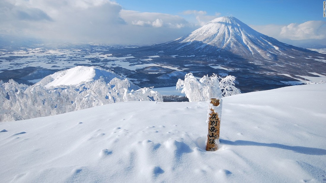 The Japanese island of Hokkaido receives up to 60 feet of snow annually. You can ski on dormant volcanoes and through perfectly spaced birch trees.
