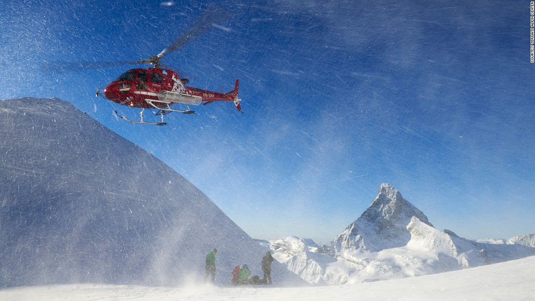 Air Zermatt lifts passengers above the roofs of the picturesque old town for a quick buzz of the Matterhorn before settling the skids near the summit of western Europe's second highest mountain, the Monte Rosa (15,200 feet).