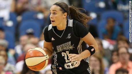 Becky Hammon was selected as one of the WNBA's greatest players.