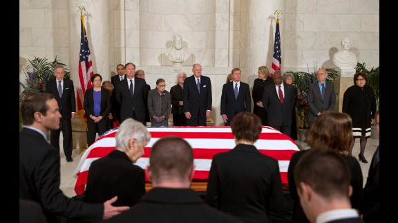 U.S. Supreme Court justices attend a private ceremony in the court