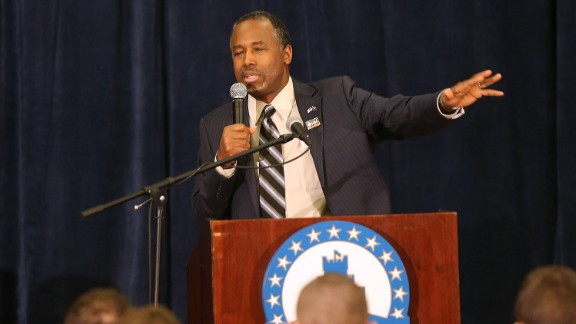 Republican presidential candidate Dr. Ben Carson speaks to cadets at the Citadel on February 19, 2016 in Charleston, South Carolina.