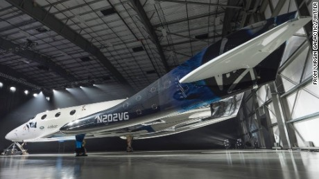 Virgin Galactic released images of its new spaceship.