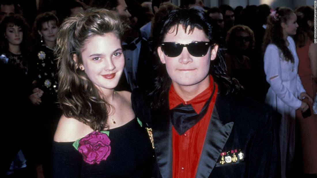 "<strong>Drew Barrymore and Corey Feldman:</strong> According to Feldman's memoir, ""Coreyography,"" the two child stars had their first date arranged by Barrymore's mother when he was 14 and she was 10. They later dated for real in 1989 while she was in her mid-teens. Feldman wrote in his memoir that he was heavily into to drugs at the time and Barrymore was trying to stay sober after multiple trips to rehab."