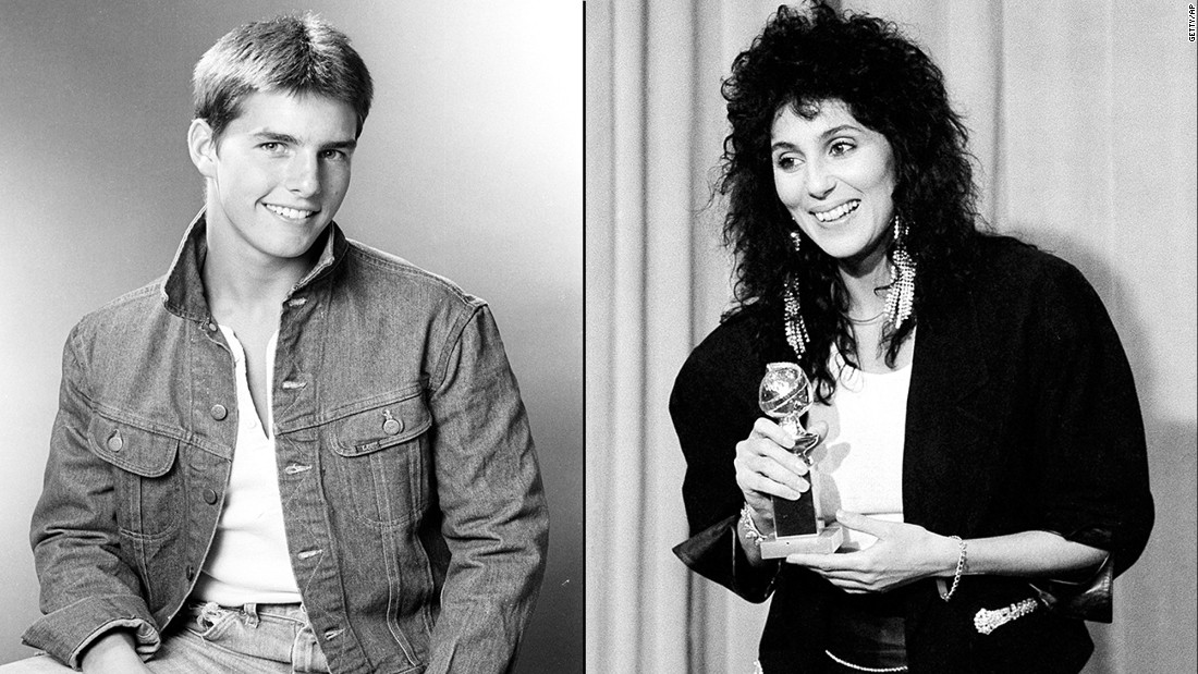 "<strong>Tom Cruise and Cher:</strong> Cher told Bravo's Andy Cohen in 2013 that Cruise was in her top 5 list of lovers. The two stars, with a 16-year age gap, had a fling in the mid-'80s after Cruise was coming off his giant success with ""Risky Business."" She told Oprah Winfrey in 2008 that she had been ""crazy"" for the actor."