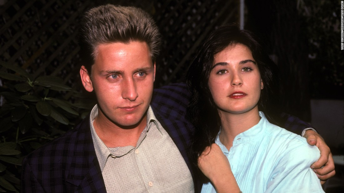 "<strong>Emilio Estevez and Demi Moore:</strong> Before Bruce Willis and way before Ashton Kutcher, Moore was engaged to Estevez. The two met on the set of ""St. Elmo's Fire"" in 1984, became engaged a year later and broke up in 1987."