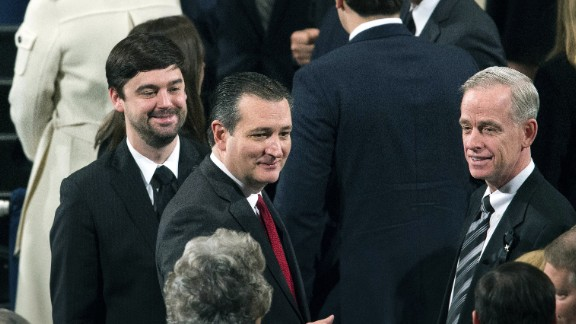 Republican presidential candidate Sen. Ted Cruz arrives for the funeral Mass on February 20.