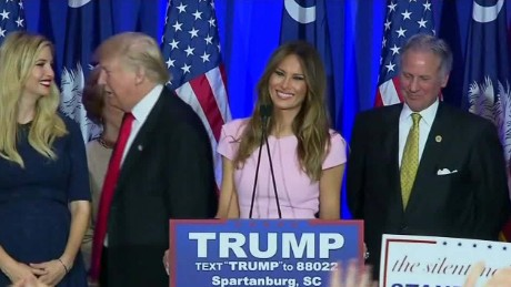 south carolina gop primary melania ivanka donald trump sot_00000000.jpg