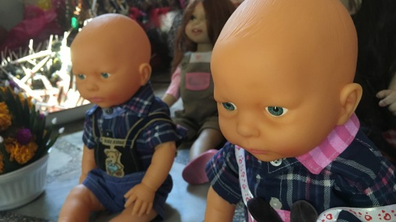 The dolls are thought to bring their owners good fortune, but it seems for some parents their upkeep outweighs the benefits.