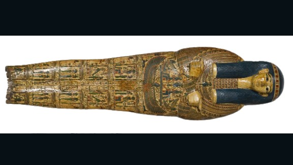 Researchers found the prints on an inner coffin lid of a priest called Nespawershefyt, also known as Nes-Amun.