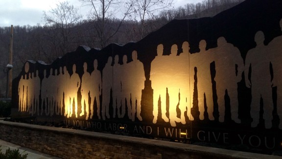 The Upper Big Branch Miners Memorial is seen in Whitesville, West Virginia, in December 2015.