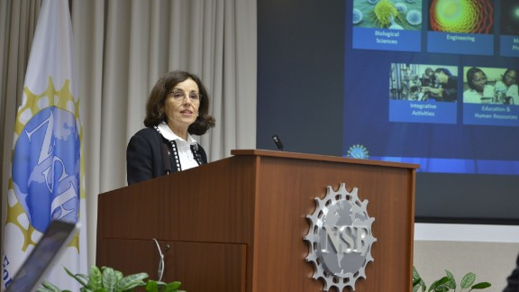 American astrophysicist France A. Córdova, 68, is Director of the National Science Foundation. She rose to this position after working as a prominent researcher of X-ray and gamma ray sources stemming from her work on pulsars. She was the youngest and first female Chief Scientist at NASA from 1993 to 1996 and later went on to be awarded NASA