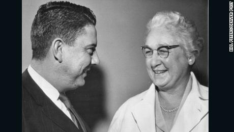 James P. Eakins and Virginia Apgar in January 1962