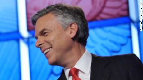 Utah Gov. Jon Huntsman smiles on November 22, 2011, at the Daughters of the American Revolution Constitution Hall in Washington, D.C.