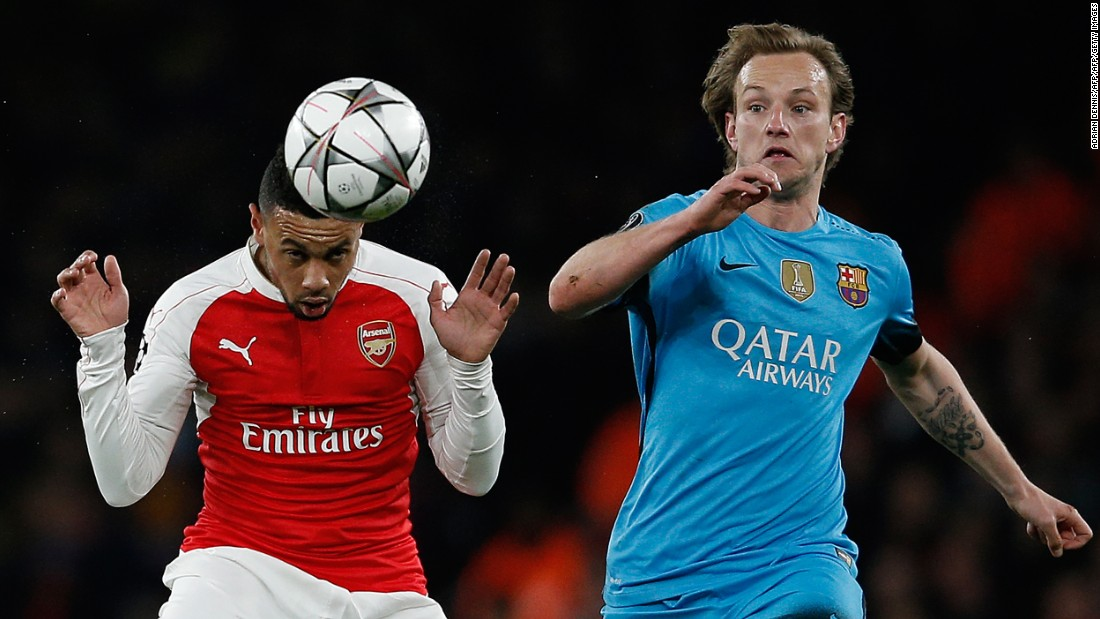 Francis Coquelin was given the job of shielding the Arsenal defense against a Barcelona team which has been scoring goals for fun this season.