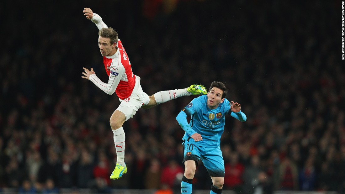 The five-time world player of the year began to find more and more space as Arsenal struggled to contain its opponent.