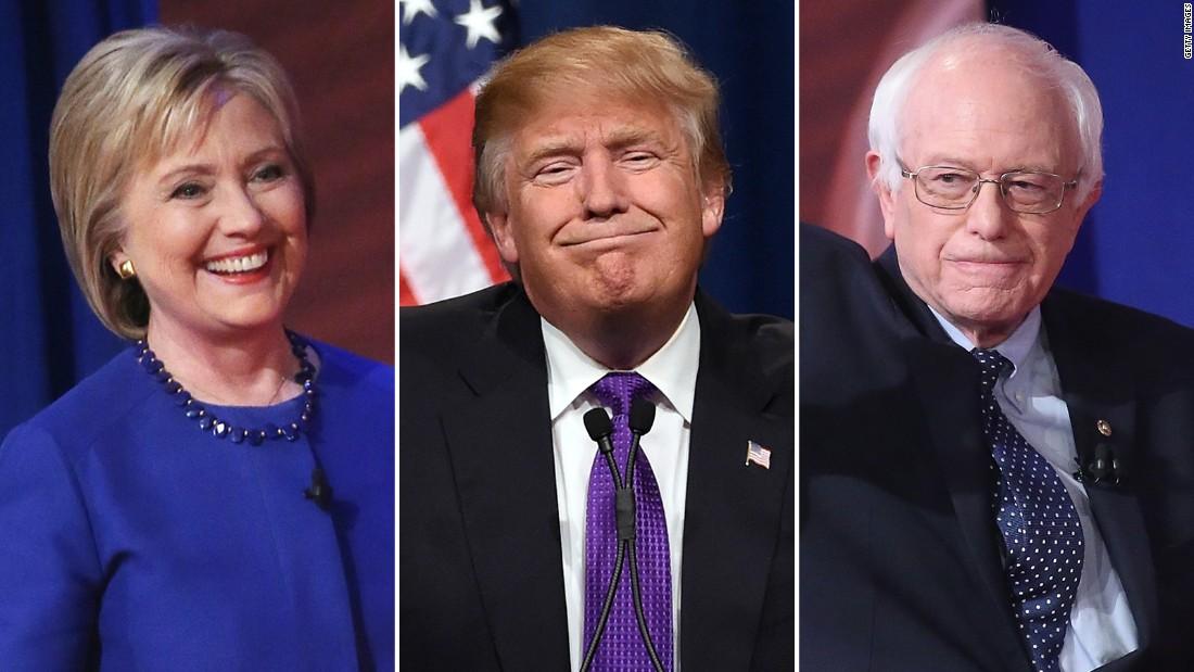 poll hillary clinton bernie sanders both top trump cnnpolitics