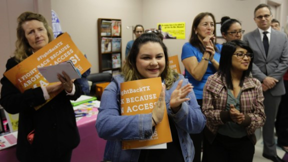 With the Supreme Court hearing on the Texas law  approaching, Whole Woman's Health -- which is challenging the law -- held a gathering at a San Antonio clinic on February 9, 2016.