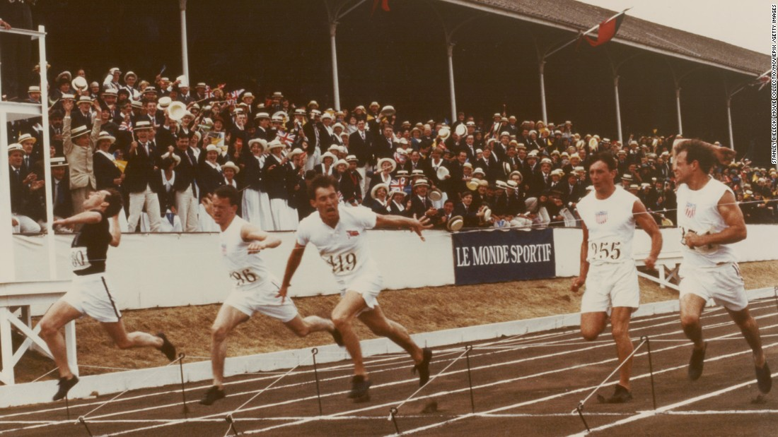 <strong>'Chariots of Fire':</strong> This 1981 Oscar-winning drama tells the story of two runners -- portrayed by actors Ben Cross and Ian Charleson -- overcoming barriers imposed by the British class system to compete in the 1924 Paris Olympics. The film's theme song by Greek composer Vangelis has become ubiquitous in pop culture because its melody evokes emotions linked to victory, triumph, joy -- and even defeat.