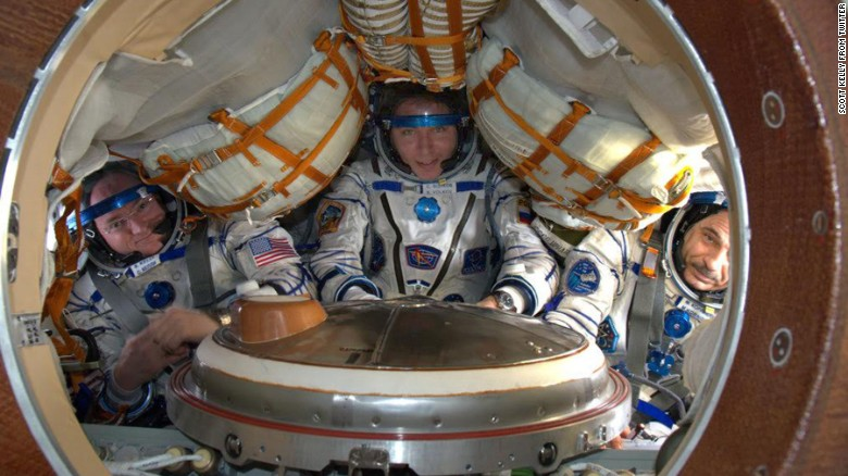 Astronaut Scott Kelly grew taller in space