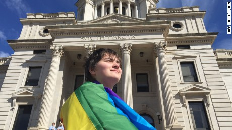 South Dakota's proposed bill to ban transgender students from using the restroom of the gender with which they identify was defeated in 2016. Trans youths who lived there felt the state didn't value their lives, Ryan Thoreson told CNN.