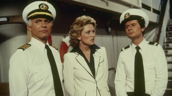 <strong>'The Love Boat':</strong> ABC's cruise-ship comedy series sailed from 1977 through 1986 with Gavin MacLeod, left, at the helm as Capt. Merrill Stubing. The show also starred Lauren Tewes, center, as cruise director Julie McCoy, and Fred Grandy, right, as lovable purser Gopher Smith. Here's a fun fact: After the series ended, Grandy served four terms as a Republican congressman from Iowa.