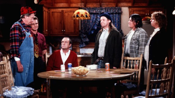 """<strong>'Newhart':</strong> Bob Newhart, seated, also reinvented himself in the '80s with his second self-titled comedy series. The show, which ran from 1982-1990, featured an eclectic cast of characters, including Larry, Darryl and their other brother Darryl. In the series' final episode, Newhart wakes up next to Suzanne Pleshette, who played his wife on """"The Bob Newhart Show,"""" revealing that the entire """"Newhart"""" series had been a dream."""