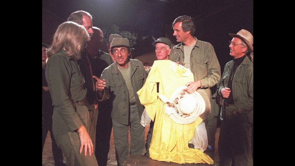 """<strong>'M*A*S*H':</strong> This CBS comedy centered on a mobile Army hospital during the Korean War, and fans held viewing parties to watch its final episode on February 28, 1983. In its 11 years, """"M*A*S*H"""" had gained such a loyal following that about 106 million people watched the finale, making it the largest single TV audience before the domination of cable programming."""