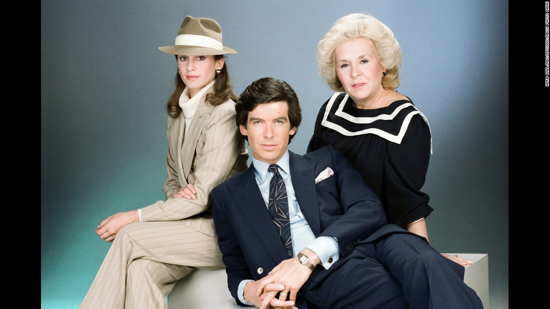 <strong>'Remington Steele': </strong>In this comedy/drama, Stephanie Zimbalist, left, played Laura Holt, a private detective who has trouble getting clients to take her seriously. Her solution: create a fictitious boss named Remington Steele as a way to gain clients' trust. A handsome thief, played by a pre-James Bond Pierce Brosnan, stumbles into Holt's life and assumes the Steele role. The two would go on to solve cases along with assistant Mildred Krebs (played by Doris Roberts, right).