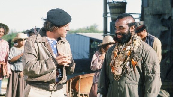 """<strong>'The A-Team':</strong> In this NBC action series about a former Army unit for hire, '80s icon Mr. T, right, played Sgt. Bosco """"Bad Attitude"""" (B.A.) Baracus. The show, which aired from 1983-1987, also starred Dwight Schultz, left, who played the A-Team's skilled pilot, Capt. H.M. """"Howling Mad"""" Murdock. The show peaked in the Nielsen ratings at No. 4 during the 1983-1984 season. In 2010, series co-creator Stephen J. Cannell eventually produced an """"A-Team"""" movie."""