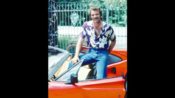 """<strong>'Magnum P.I.':</strong> In 1984, a New York Times writer described """"Magnum P.I."""" star Tom Selleck as """"a tall, furry actor with laughing dimples."""" Selleck played Thomas Magnum, a Ferrari-driving private investigator hired by a rich Hawaiian estate owner who viewers never saw. The estate was run by the verbose and stuffy Jonathan Quincy Higgins III, played hilariously by John Hillerman. The series became a CBS prime-time staple from 1980-1988, peaking at No. 3 during the '82-'83 season."""