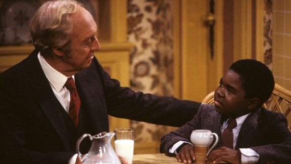 """<strong>'Diff'rent Strokes':</strong> In the 1970s, talented child actor Gary Coleman caught Hollywood's eye, and by 1978 he'd landed the sitcom that would make him a star. """"Diff'rent Strokes"""" would run on two different networks -- first NBC, then ABC until 1986. Conrad Bain, left, played Philip Drummond, a wealthy widower who adopted orphans Arnold Jackson (played by Coleman, right) and his older brother, Willis. Coleman's catch phrase, """"Whatchoo talkin' 'bout Willis?"""" made him famous."""