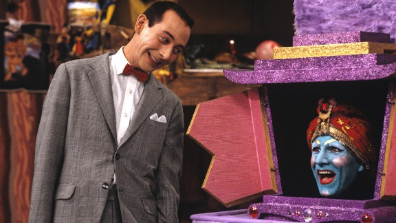 """<strong>'Pee-wee's Playhouse':</strong> Pee-wee Herman, played by Paul Reubens, was unlike any TV character we'd seen before. Who <em>was </em>this guy? Was he a kid? An adult? It didn't matter -- he was full of surprises that kept us glued to his Saturday morning show. Airing on CBS from 1986-1990, """"Pee-wee's Playhouse"""" was loved by kids, adults and critics, winning five Emmys. Like the show said: If you love it so much, why don't you just <em>marry</em> it?"""