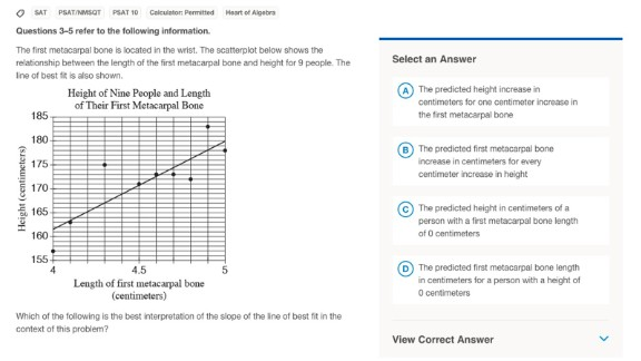 Students will see math questions like this one on the new SAT. The correct answer is A.