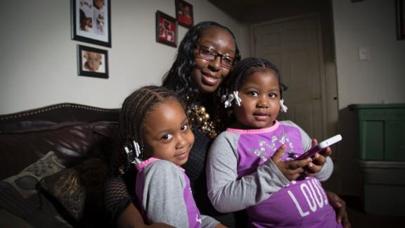 Tromeshia Horton's sister, Shameka Johnson, was shot dead in front of Johnson's house in Flint in 2012, when her girls, Brayla, left, and Kayla, were infants.