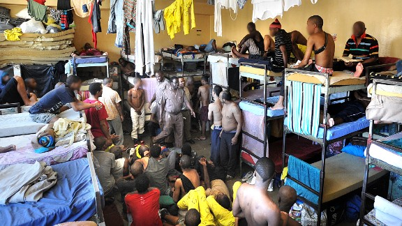 In the remand center of Pollsmoor, detainees are often more than 70 in a cell designed for 19.