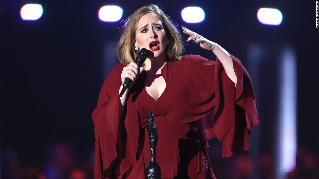 "Singer Adele led the charge <a href=""http://www.cnn.com/2016/02/24/entertainment/2016-brit-awards-adele-bowie-tribute/"" target=""_blank"">at the BRIT Awards,</a> the British equivalent of the Grammys, on Wednesday, February 24. She finished with four wins, including best single (""Hello"") and best album (""25"")."