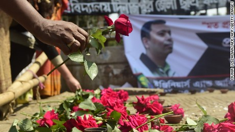 Roy's death sparked a wave of mourning and widespread condemnation of the attack in Bangladesh.