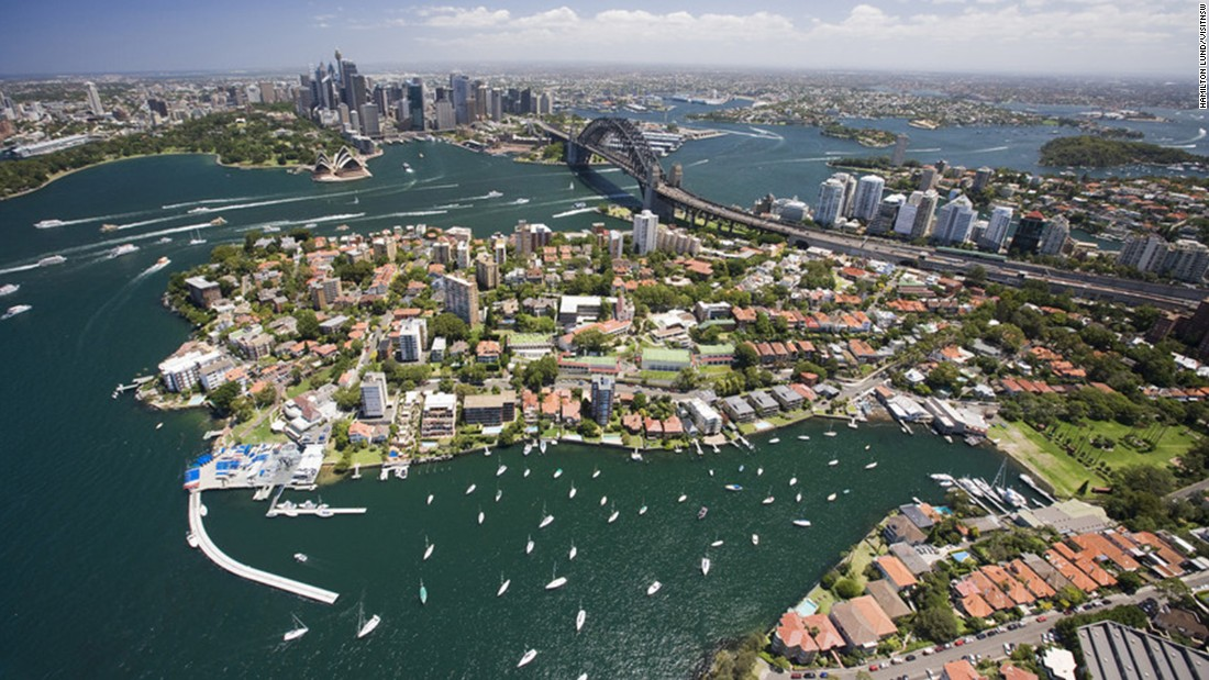 "The median price of a house in Sydney is <a href=""https://www.domain.com.au/product/domain-house-price-report-december-2017/"" target=""_blank"">$914,000</a>, while the national median price is $630,000, as of December 2017. Prices are highest around the harbor, encouraging residents to move further out of the city."