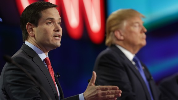 Marco Rubio speaks at the CNN Republican Presidential Debate at the University of Houston on February 25, 2016.